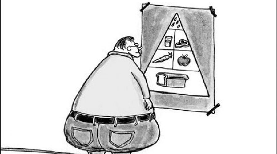 The fattening nonsense of traditional food pyramids. A Healthy-Fit-You Food Pyramid.