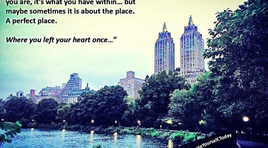 New York. Where I left my heart once.